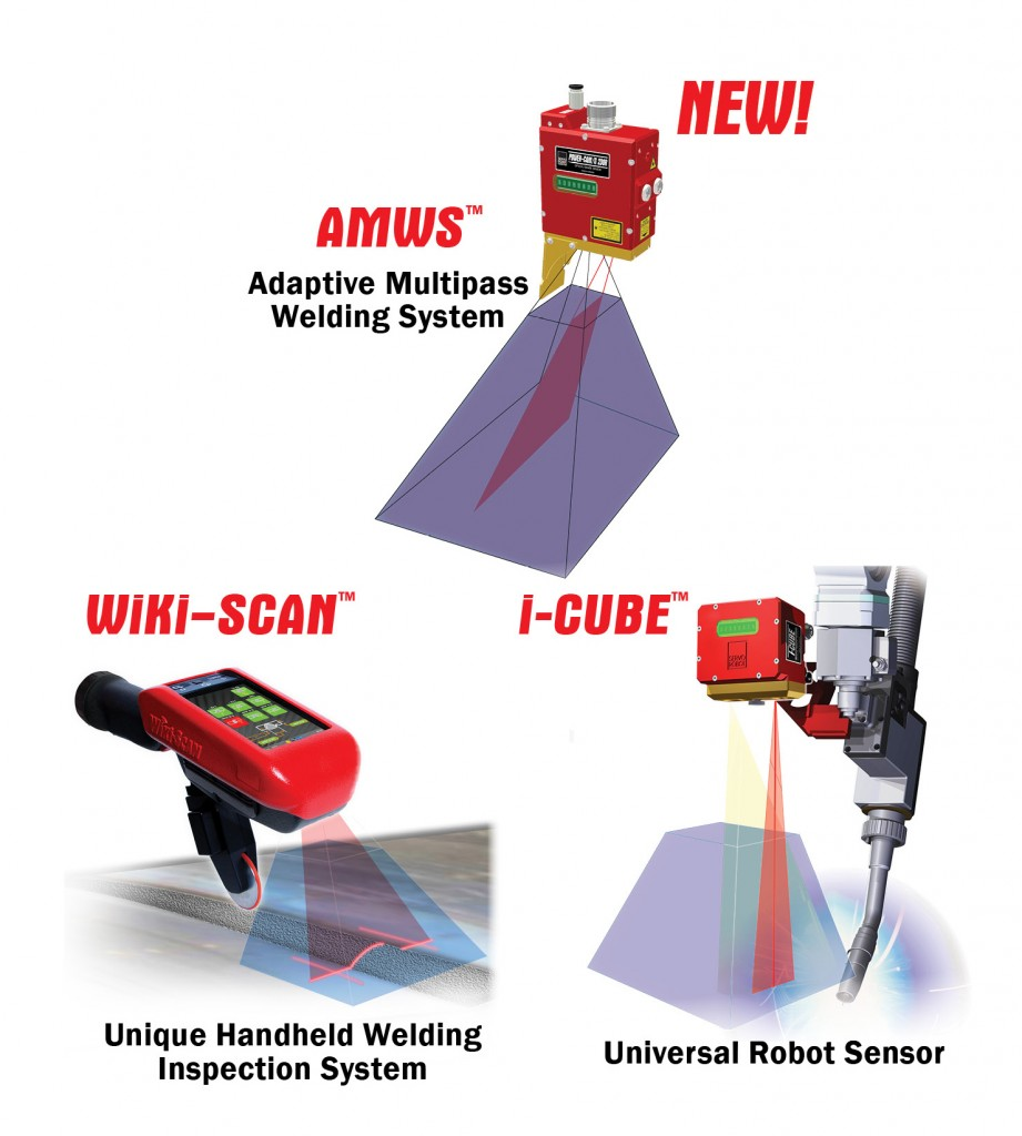 AMWS (Adaptive Multipass Welding System), WiKi-SCAN (Unique Handheld Welding Inspection System) and i-CUBE (Universal Robot Sensor)