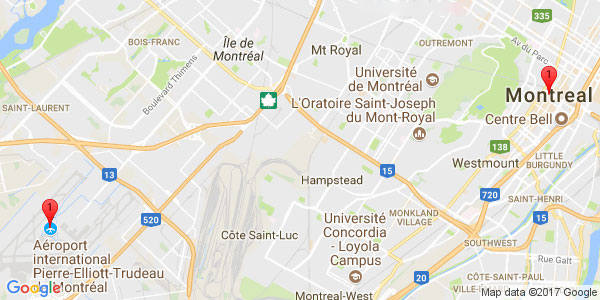 Pierre-Elliot Trudeau International Airport to HOTEL WELCOMINNS, Boucherville