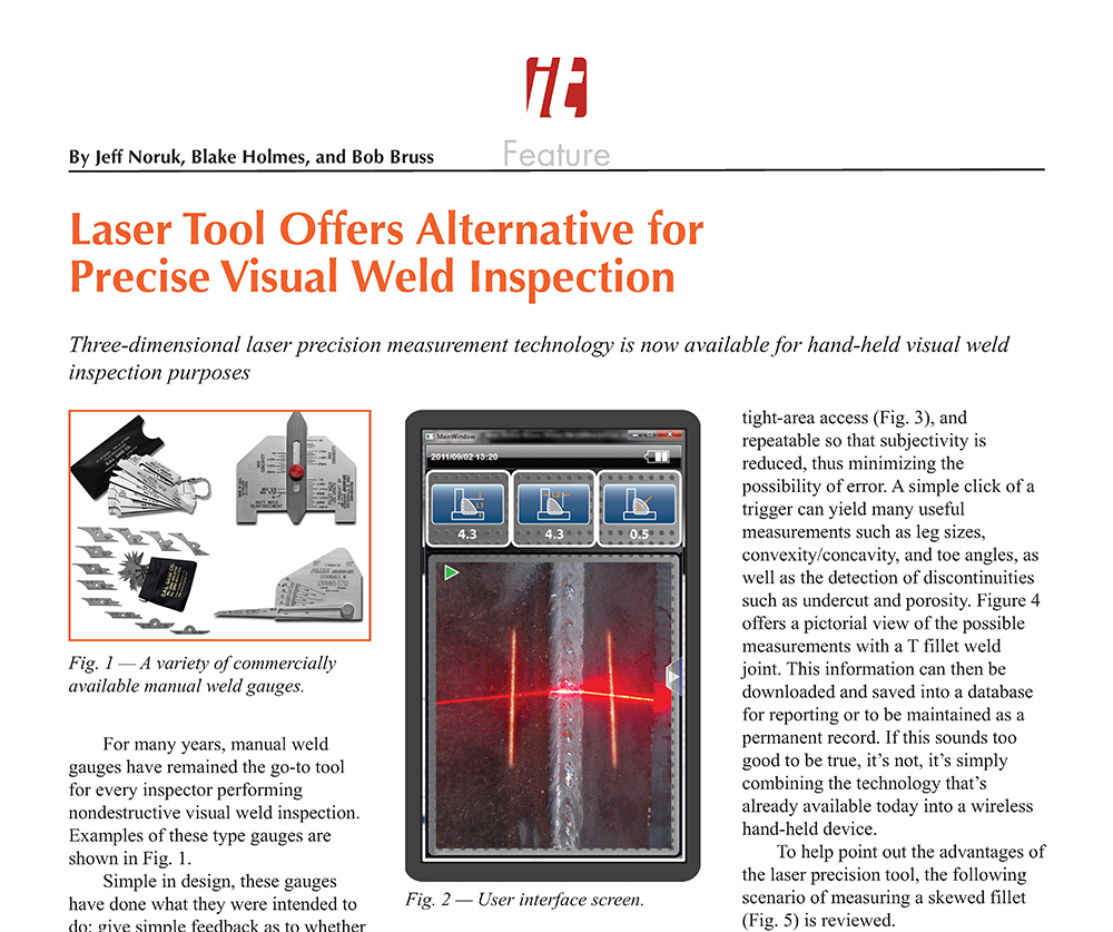 Laser Tool Offers Alternative for Precise Visual Weld Inspection!