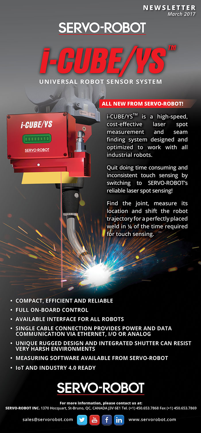 i-CUBE/YS™ high-speed, cost-effective laser spot measurement and seam finding system