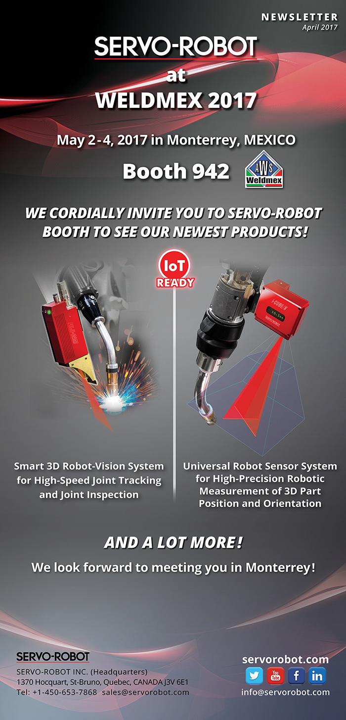 SERVO-ROBOT invites you to visit us at WELDMEX 2017