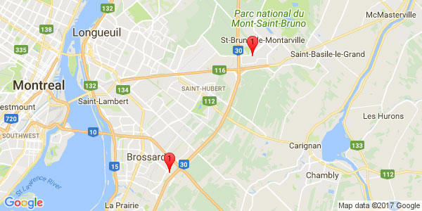From ALT Quartier DIX/30HOTEL, Brossard to SERVO-ROBOT