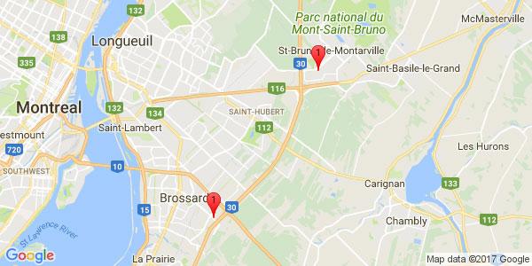 From ALT Quartier DIX/30HOTEL, Brossard to SERVO-ROBOT