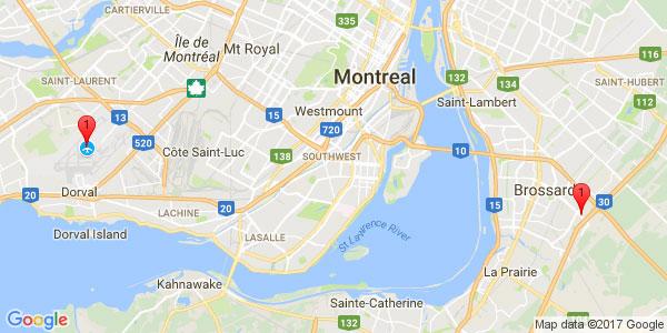 Pierre-Elliot Trudeau International Airport to ALT Quartier DIX/30 HOTEL, Brossard