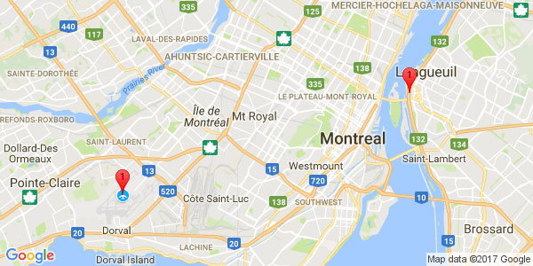 Pierre-Elliot Trudeau International Airport to HOTEL BROSSARD, Brossard
